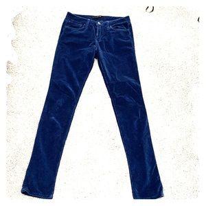 Joe's Blue Velvet Skinny Pants Size 26